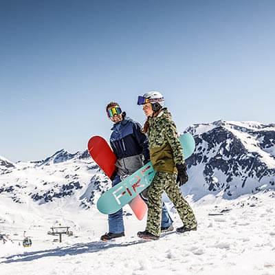 Produktdetailseite Snowboard-Set Kids